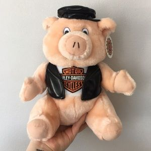 1998 NWT Harley Davidson Official Stuffed Pig